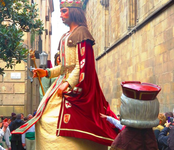 Jaume I y Violant d'Hongria, los gigantes de Barcelona