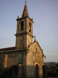 Iglesia de Parderrubias, en el municipio de Salceda de Caselas.