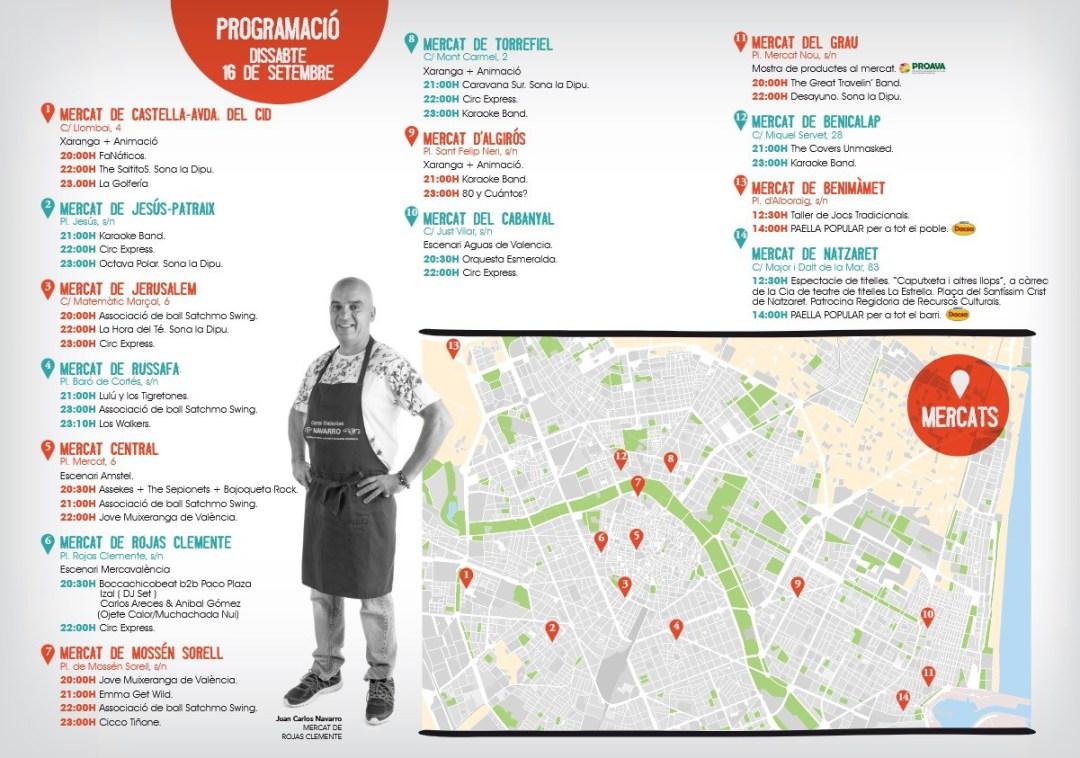 Vuelve la noche gastronómica a los Mercados de Valencia