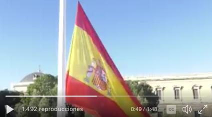 La plaza de Colón de Madrid acoge el izado solemne de bandera en honor a San Isidro