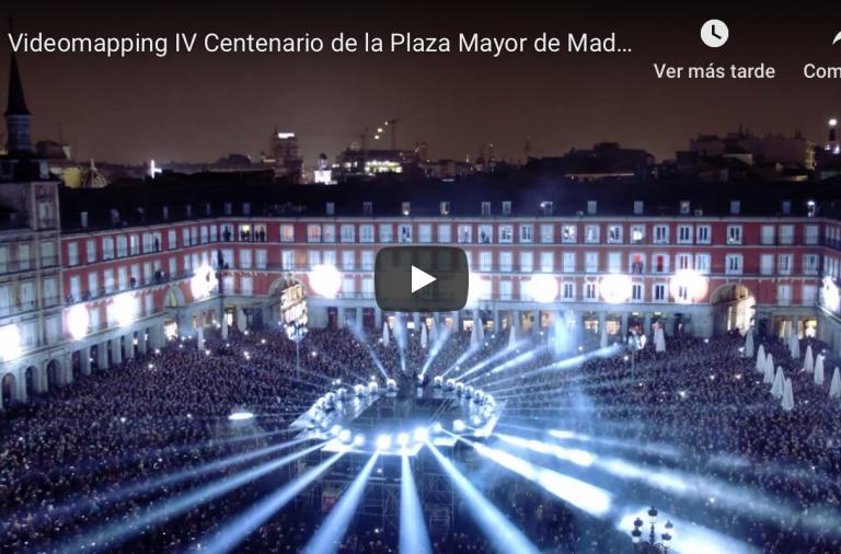 Impresionante espectáculo el que se vive para celebrar el IV Centenario de la Plaza Mayor